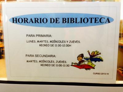 Horario de nuestra biblioteca